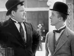 Big and small of it: Stan Laurel, left, and Oliver Hardy.