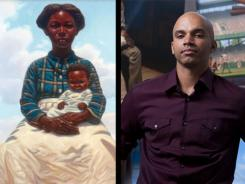 Image on the cover of 'Heart and Soul;' author Kadir Nelson.