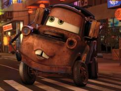Mater (voice by Larry the Cable Guy) gets caught up in a scandal while visiting Japan in 'Cars 2.'