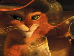 Puss In Boots, voiced by Antonio Banderas, beat out newcomer Tower Heist to take the No. 1 spot for the second consecutive week.