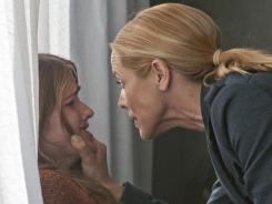 Prime Suspect :  Maria Bello, right, with Bre Blair, could be out of a TV job soon. Her new NBC series has struggled in the ratings.