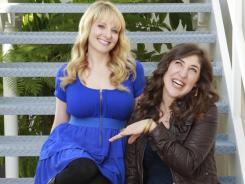 Mayim Bialik and Melissa Rauch are love interests for the geeks on the CBS hit sitcom 'Big Bang Theory.'