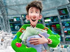 Arthur (voiced by James McAvoy) gets into the holiday spirit in the new animated film 'Arthur Christmas.'