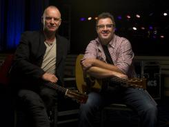Sting, and Vince Gill will perform together on CMT's 'Crossroads' on Thanksgiving.