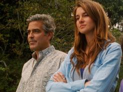 Sister act: George Clooney plays Matt King, father to Alex (Woodley) in 'The Descendants .'