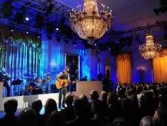 "Dierks Bentley performs at the White House during a ""celebration of country music"" concert airing Wednesday on PBS at 8 p.m. ET/PT."