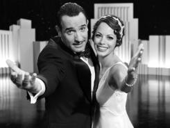 Jean Dujardin stars as silent-film icon George Valentin and Berenice Bejo is newcomer Peppy Miller in 'The Artist.'