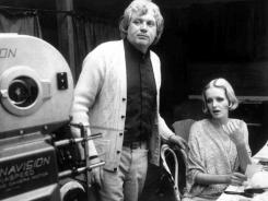 British film director Ken Russell with British model Twiggy during the filming of the movie 'The Boy Friend,' in London on Aug. 4, 1971.