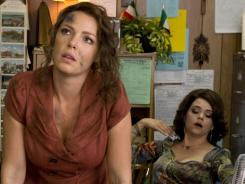 Katherine Heigl, left, stars as Stephanie Plum, who lands a job at a bail bond company. Ana Reeder plays Connie.