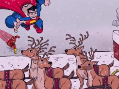 Superman and the Flash come to Santa's aid in the new DC Super Friends storybook app.