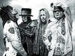 Motley Crue members  Nikki Sixx, left, Mick Mars, Vince Neil and Tommy Lee have signed up for a residency in Las Vegas.