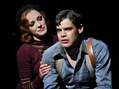 Laura Osnes and Jeremy Jordan star in the new musical 'Bonnie & Clyde.'