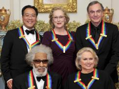 Ma, Meryl Streep, Neil Diamond, Barbara Cook and Sonny Rollins, clockwise from upper left, received medals at a dinner Saturday night, then were given an all-star salute Sunday.