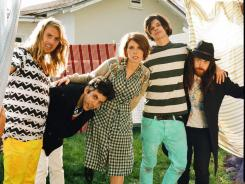 Grouplove: Andrew Wessen, left, Ryan Rabin, Hannah Hooper, Christian Zucconi and Sean Gadd.
