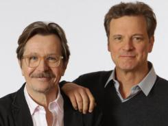 In their new film,  Gary Oldman, left, is caught up in British intelligence, and Colin Firth just may be the mole.