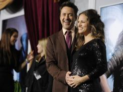 "Robert Downey Jr. may have accidentally revealed that he and wife Susan are expecting a boy on 'Leno' earlier this week, but she says she ""can never really stay mad at him."""