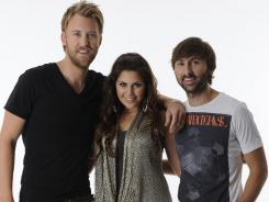 Lady Antebellum - Charles Kelley, left, Hillary Scott and David Haywood - is being honored by CMT for the second year in a row.