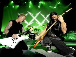 James Hetfield and Robert Trujillo of Metallica are still rocking hard after 30 years.