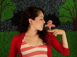 Kina Grannis used 288,000 jelly beans to create a stop-motion effect in her video for 'In Your Arms.'
