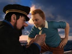Captain Haddock (Andy Serkis) and?Tintin (Jamie Bell) team up to search for a shipwreck and its treasure in 'The Adventures of?Tintin.'