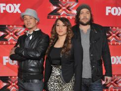 Chris Rene, Melanie Amaro and Josh Krajcik are the last ones standing on 'X Factor.' The two part-finale airs Wednesday and Thursday.