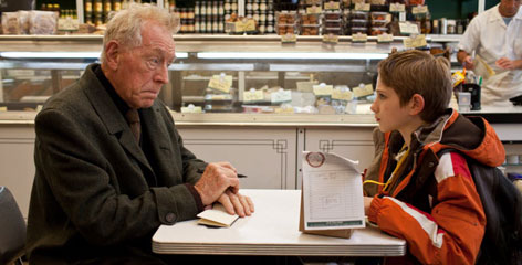 Max Von Sydow and Thomas Horn in 'Extremely Loud & Incredibly Close.' Opens nationwide on Sunday.