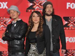 Going into the two-part finale of 'X Factor,' the competition was down to three: Chris Rene, Melanie Amaro and Josh Krajcik.