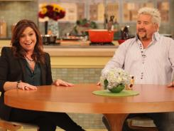 Tag team: Rachael Ray and Guy Fieri just finished working together on a new Food Network cooking show, 'Rachael Vs. Guy Celebrity Cook-Off.'