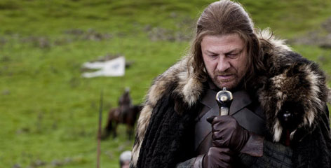 Sean Bean portrays Eddard Stark in a scene from the HBO series, 'Game of Thrones', based on the George R.R. Martin series.