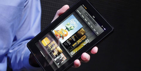 The Kindle Fire, Amazon's first color Kindle, was released in 2011