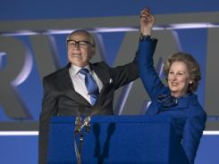 Meryl Streep stars as Margaret Thatcher and Jim Broadbent as her husband, Denis, in 'The Iron Lady.'