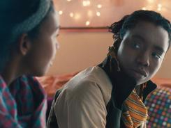 First steps: Bina (Aasha Davis), left, and Alike (Adepero Oduye) form a bond in the film, 'Pariah.'