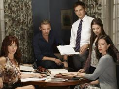 Juliette Lewis, from left, Callum Keith Rennie, Josh Lucas, Natasha Calis and Molly Parker star in The Firm, an adaptation of John Grisham's best seller that was made into a hit 1993 film.