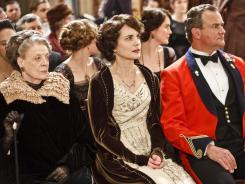 Maggie Smith, left, Elizabeth McGovern and Hugh Bonneville headline the British series'  large cast.
