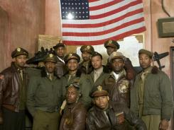 The cast includes Oscar winner Cuba Gooding Jr. (second row, third from left), and, next to him, Terrence Howard.