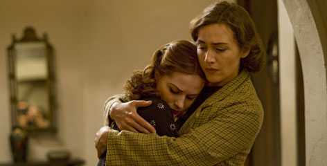 Evan Rachel Wood, left, and Kate Winslet in a scene from the HBO miniseries  'Mildred Pierce.'