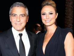 George Clooney and girlfriend Stacy Keibler arrive at the 23rd annual Palm Springs International Film Festival Awards Gala.