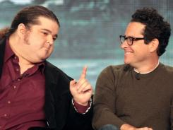 Actor Jorge Garcia, left, and J.J. Abrams reunite for 'Alcatraz,' which tracks the reappearance of prisoners at the infamous prison.