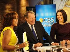 CBS unveiled its revamped 'This Morning' on Monday, anchored by Gayle King, left, Charlie Rose and Erica Hill.