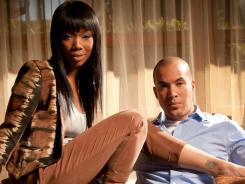 'Game' on: Brandy and Coby Bell formed a fast friendship while filming.