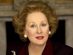 A different 'Lady': Meryl Streep, like many actresses this awards season, underwent an extreme physical transformation on screen. Here, she's transformed into Margaret Thatcher for 'The Iron Lady.'