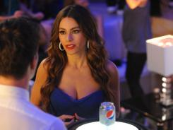 Full, refreshing circle: Colombian bombshell Sofia Vergara got her start in show business via a Pepsi commercial.