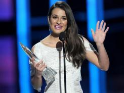 "Giving her shoutout to the Gleeks: Lea Michele, who won for favorite TV comedy actress, told the fans that her show ""would be nothing without you."""