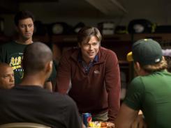 'Moneyball' stars Brad Pitt as Oakland A's manager Billy Beane.