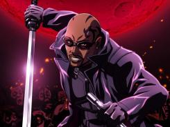 Former 'Lost' star Harold Perrineau voices the title vampire hunter in G4's 'Blade' anime series.