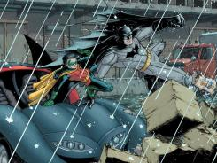 Batman and Robin rally the troops against Talia al Ghul in Grant Morrison's 'Batman Incorporated.'