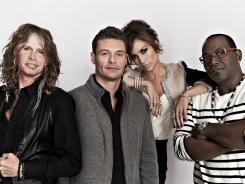 "Randy Jackson, right, the only remaining 'Idol'  judge from Season 1, lays it out: ""This is just a great, great talent show. I still think it's the best of its kind."" That's judge Steven Tyler, left, host Ryan Seacrest and judge Jennifer Lopez."