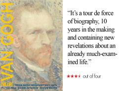 'Van Gogh: The Life' by Steven Naifeh and Gregory White Smith is this weekend's top book pick.