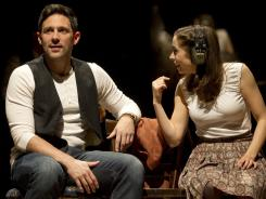 Steve Kazee, left, and Cristin Milioti star in 'Once', a new musical based on the 2006 film of the same name that  will grace Broadway this spring.