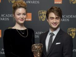 Daniel Radcliffe and Holliday Grainger announced the British Academy Film Award nominations on Tuesday in London.